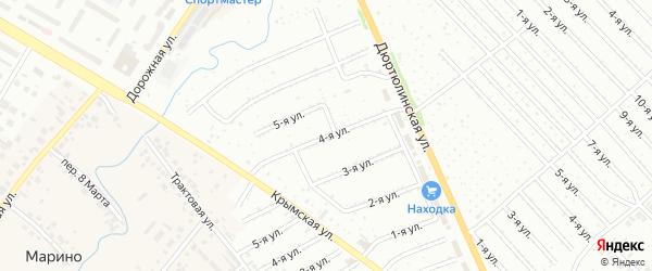 4-я улица на карте СНТ Энергетика НЭС с номерами домов