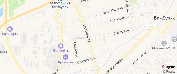 Улица Чкалова на карте села Бижбуляка с номерами домов