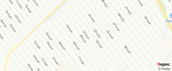21-я улица на карте СНТ Арлана восточной стороны с номерами домов