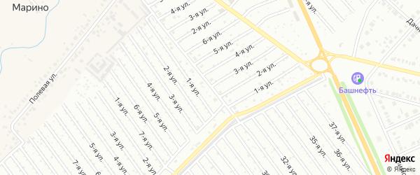 3-я улица на карте СНТ Арлана восточной стороны с номерами домов