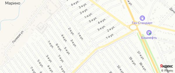 3-я улица на карте СНТ Арлана с номерами домов