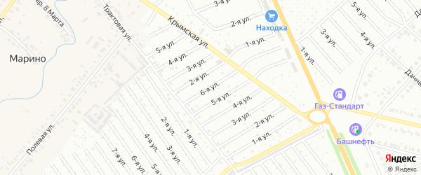 6-я улица на карте СНТ Арлана с номерами домов