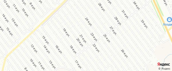 22-я улица на карте СНТ Арлана с номерами домов