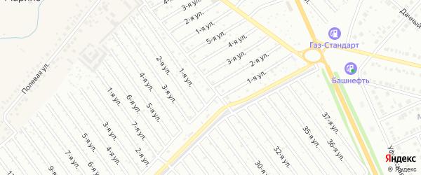 2-я улица на карте СНТ Арлана восточной стороны с номерами домов