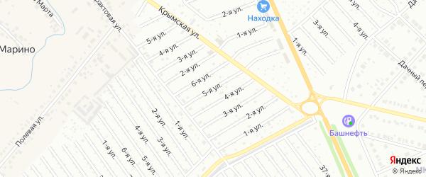 5-я улица на карте СНТ Арлана с номерами домов
