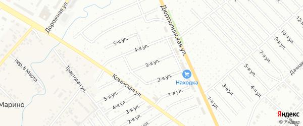 3-я улица на карте СНТ Юбилейного с номерами домов