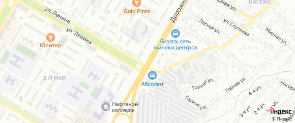 Дорожная улица на карте Нефтекамска с номерами домов