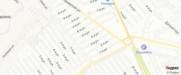 4-я улица на карте СНТ Арлана с номерами домов