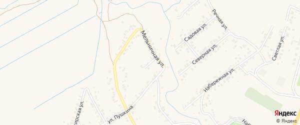 Улица Труда на карте села Ташкиново с номерами домов