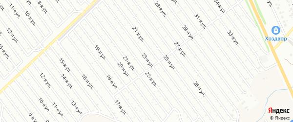 23-я улица на карте СНТ Арлана восточной стороны с номерами домов