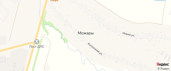 Улица Пашина на карте села Можары с номерами домов