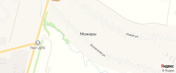 Переулок Пашина на карте села Можары с номерами домов