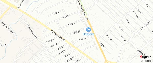2-я улица на карте садового товарищества СПК Геофизика с номерами домов