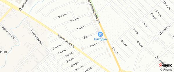 2-я улица на карте СНТ Энергетика НЭС с номерами домов