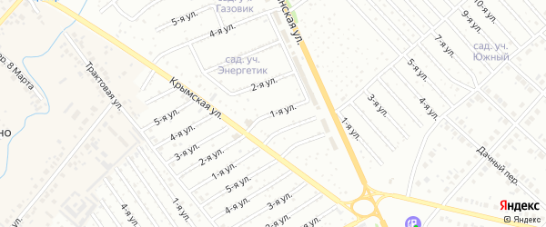 1-я улица на карте садового товарищества СПК Геофизика с номерами домов