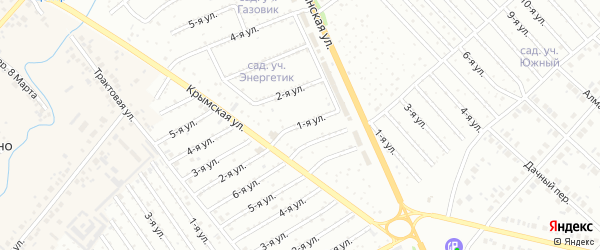 1-я улица на карте СНТ Родничка с номерами домов