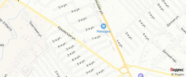 1-я улица на карте СНТ Восхода НГДУ с номерами домов