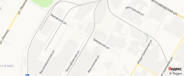 ГСК Автомобилист на карте Заводской улицы с номерами домов