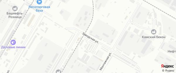 Заводская улица на карте Нефтекамска с номерами домов