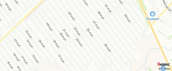 24-я улица на карте СНТ Арлана восточной стороны с номерами домов