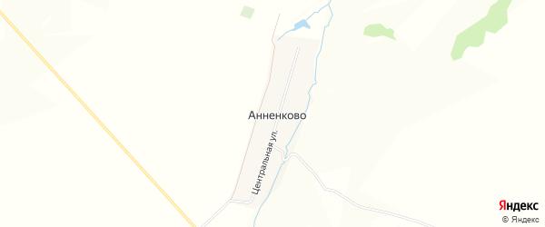 Карта деревни Анненково в Башкортостане с улицами и номерами домов