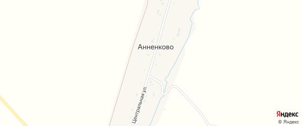 Центральная улица на карте деревни Анненково с номерами домов