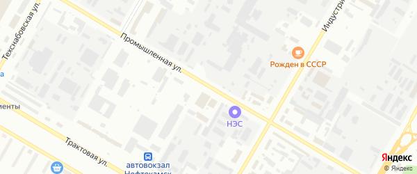 Промышленная улица на карте Нефтекамска с номерами домов