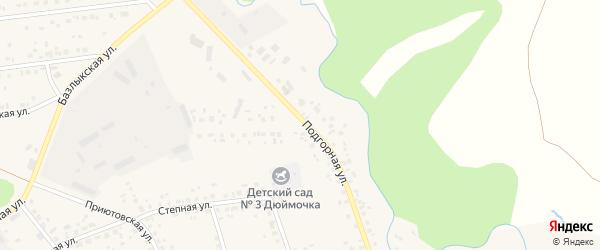 Подгорная улица на карте села Бижбуляка с номерами домов