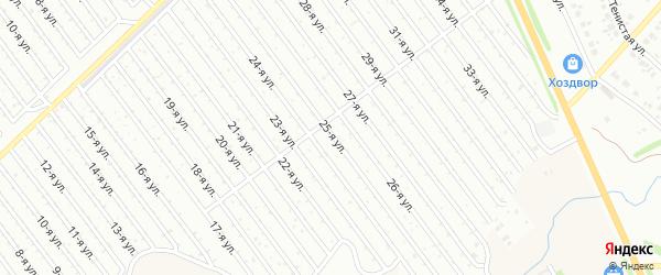 25-я улица на карте СНТ Арлана западной стороны с номерами домов