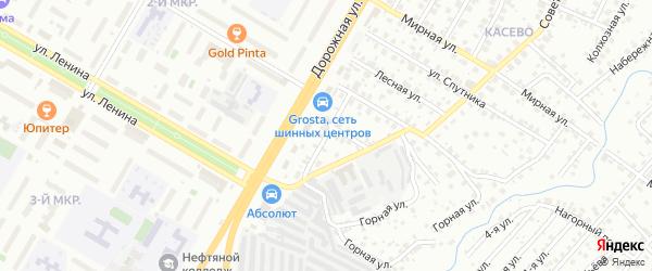 Тракторный переулок на карте Нефтекамска с номерами домов