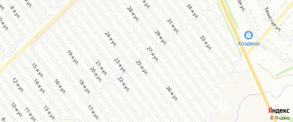 26-я улица на карте СНТ Арлана восточной стороны с номерами домов