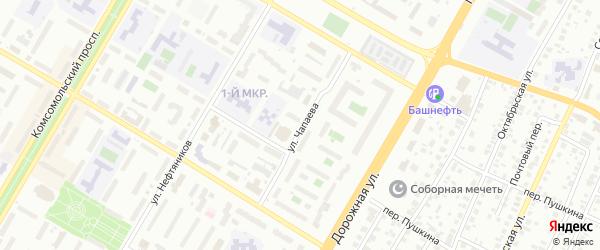 Улица Чапаева на карте Нефтекамска с номерами домов