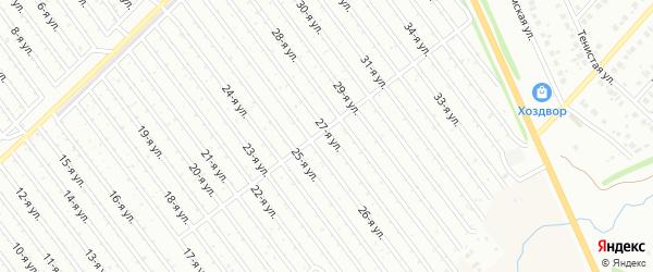 27-я улица на карте СНТ Восхода НГДУ с номерами домов