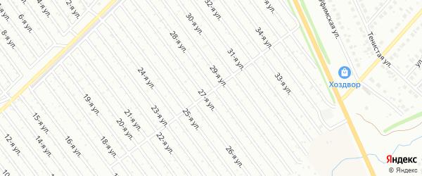 28-я улица на карте СНТ Арлана с номерами домов