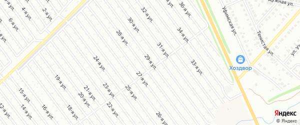 29-я улица на карте СНТ Арлана с номерами домов