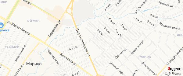 СТ СПК им Мичурина на карте Нефтекамска с номерами домов