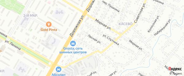 Лесная улица на карте Нефтекамска с номерами домов