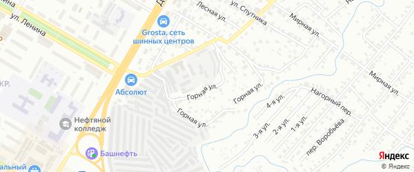 Горная улица на карте Нефтекамска с номерами домов