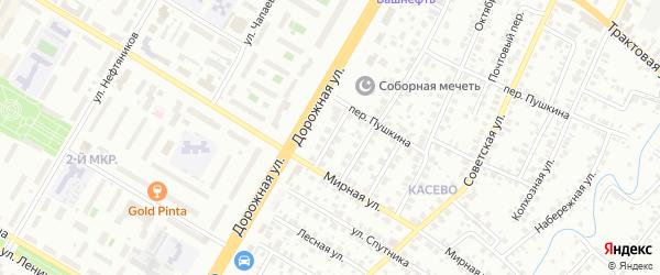 Мирный переулок на карте Нефтекамска с номерами домов