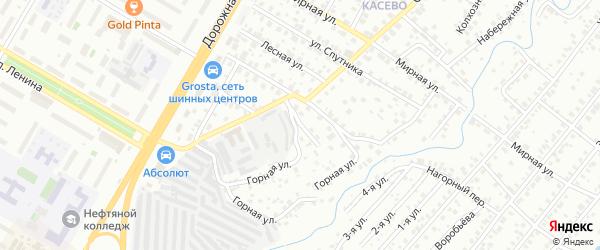 Переулок Некрасова на карте Уфы с номерами домов