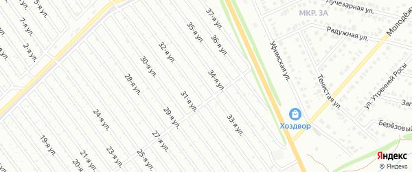 33-я улица на карте СНТ Арлана с номерами домов