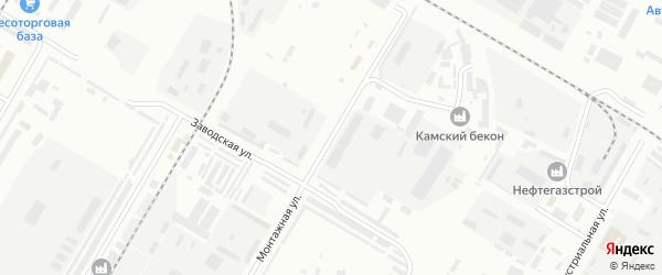 Монтажная улица на карте Нефтекамска с номерами домов