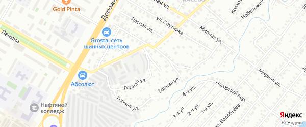 Переулок Некрасова на карте Нефтекамска с номерами домов