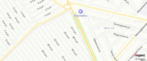 37-я улица на карте СНТ Арлана восточной стороны с номерами домов