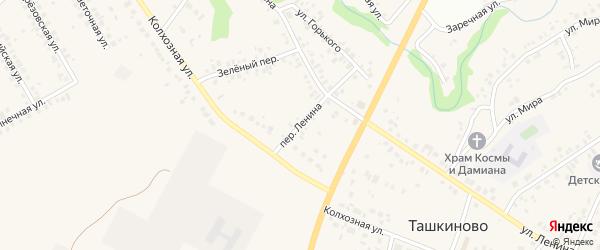 Переулок Ленина на карте села Ташкиново с номерами домов