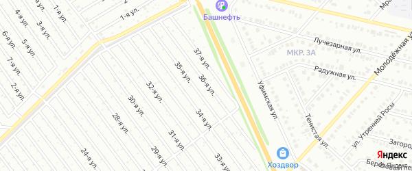 36-я улица на карте СНТ Восхода НГДУ с номерами домов