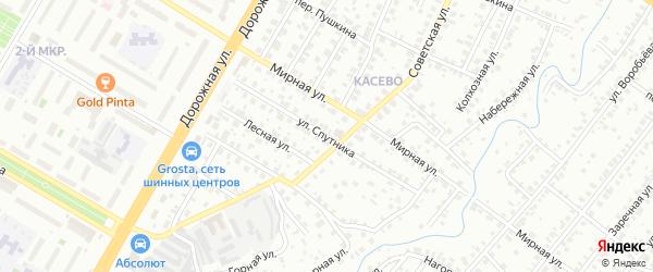 Улица Спутника на карте Нефтекамска с номерами домов