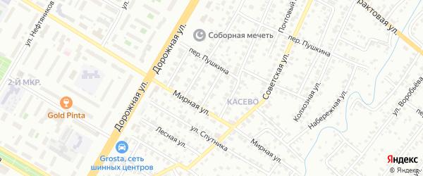 Буровая улица на карте Нефтекамска с номерами домов