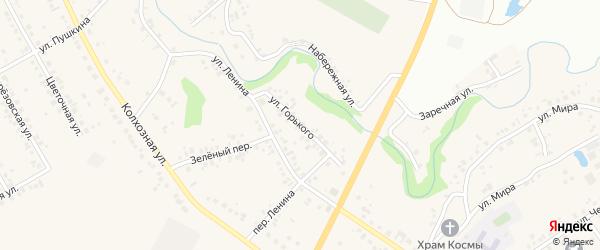 Улица Горького на карте села Ташкиново с номерами домов