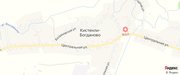 Заречная улица на карте села Кистенли-Богданово с номерами домов